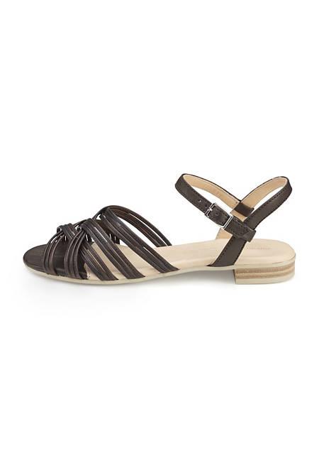Riemchen-Sandalette aus Leder