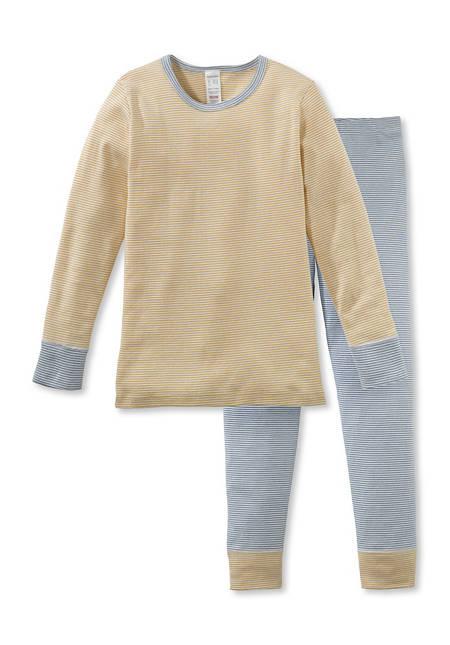 Ringel-Pyjama aus reiner Bio-Baumwolle