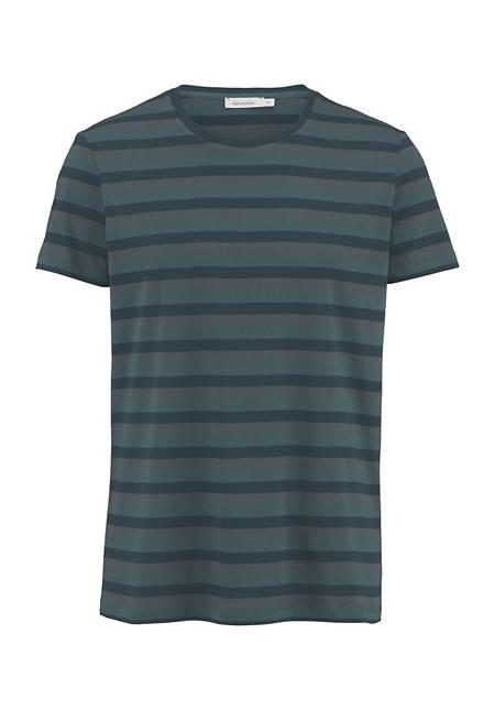Ringel-Shirt aus Bio-Baumwolle mit Schurwolle