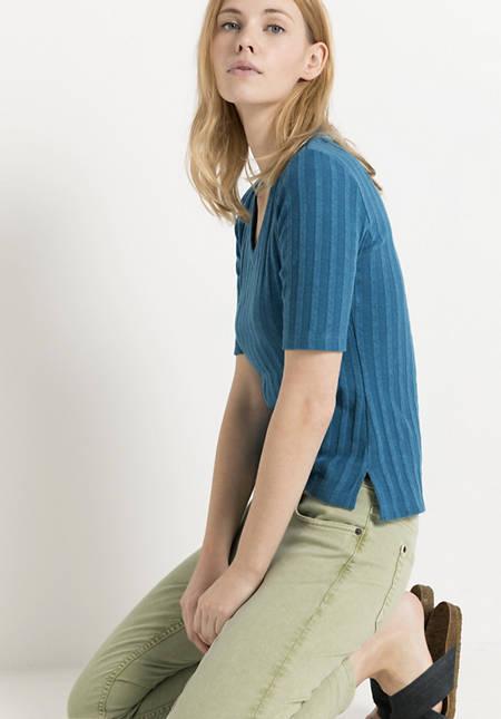 Rippshirt aus Bio-Baumwolle mit Hanf