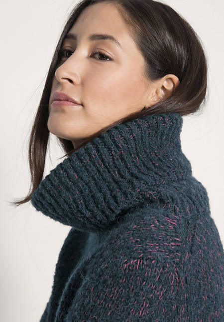Rollkragen-Pullover aus Schurwolle mit Alpaka und Bio-Baumwolle