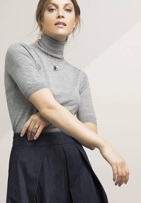 Rollkragenpullover aus reiner Bio-Merinowolle