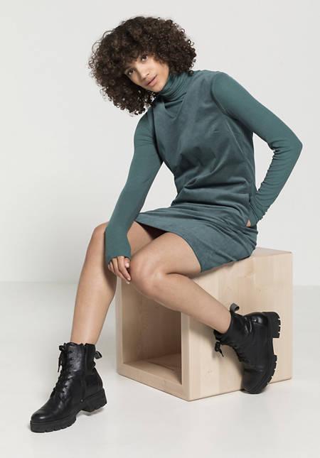 Samt Kleid aus Bio-Baumwolle mit Hanf
