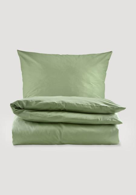 Satin-Bettwäsche im Set aus reiner Bio-Baumwolle