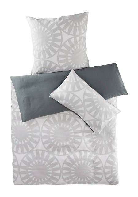 Satin-Wendebettwäsche Yoko aus reiner Bio-Baumwolle