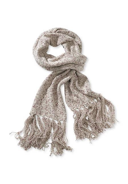Schal aus Schurwolle mit Baumwolle
