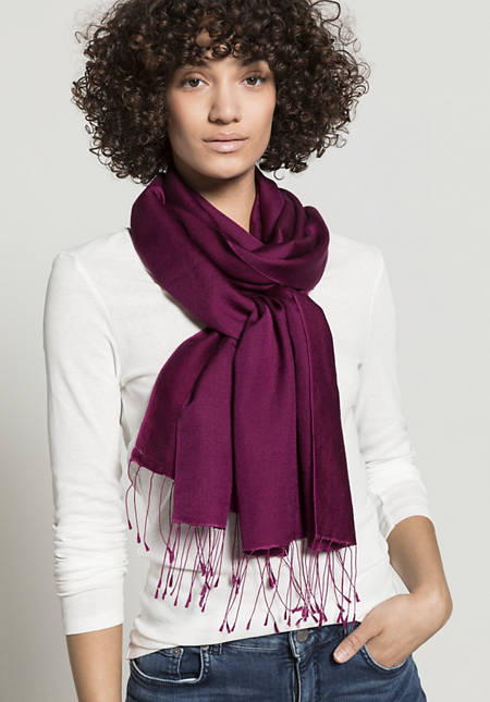 Schal aus Schurwolle mit Seide