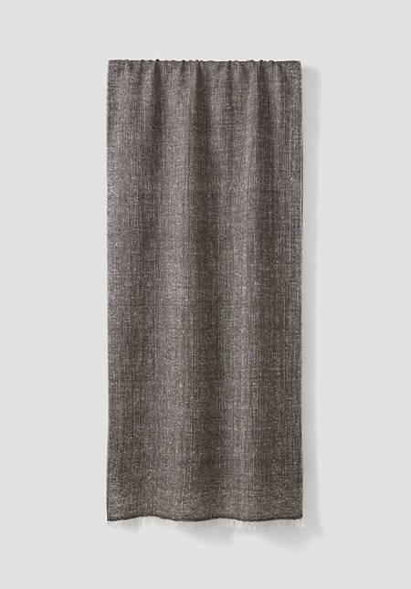 Schal aus Yakwolle und Seide