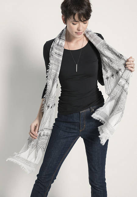 Schal aus reiner Bio-Baumwolle