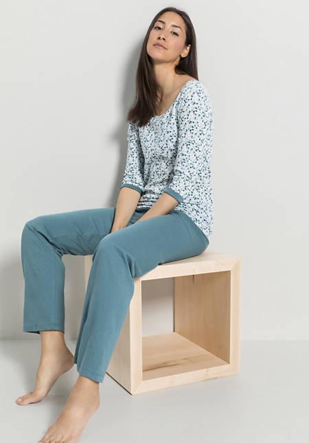 Schlaf-Shirt aus Bio-Baumwolle mit Seide
