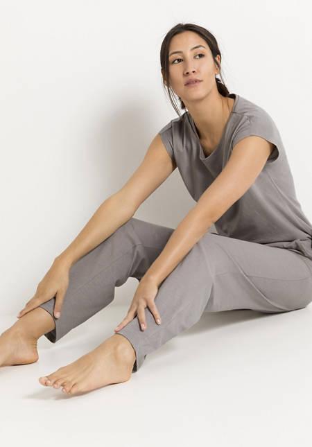 Schlafhose aus Bio-Baumwolle mit Leinen
