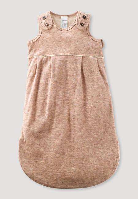 Schlafsack für Neugeborene aus reiner Bio-Baumwolle mit Merinowolle