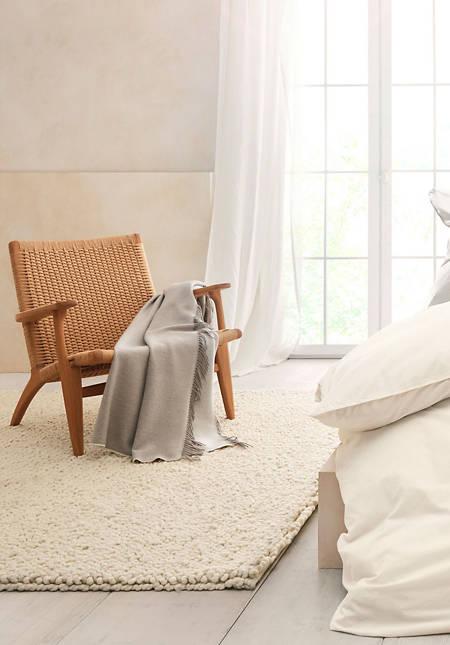 Schlingenteppich Deichschaf aus reiner Schurwolle