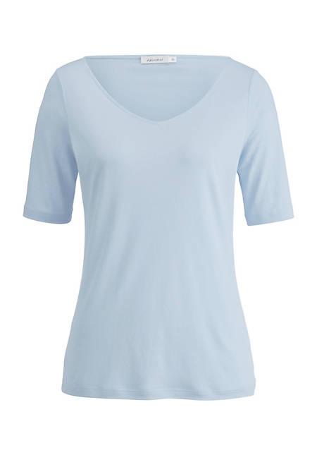 Seiden-Shirt mit Leinen