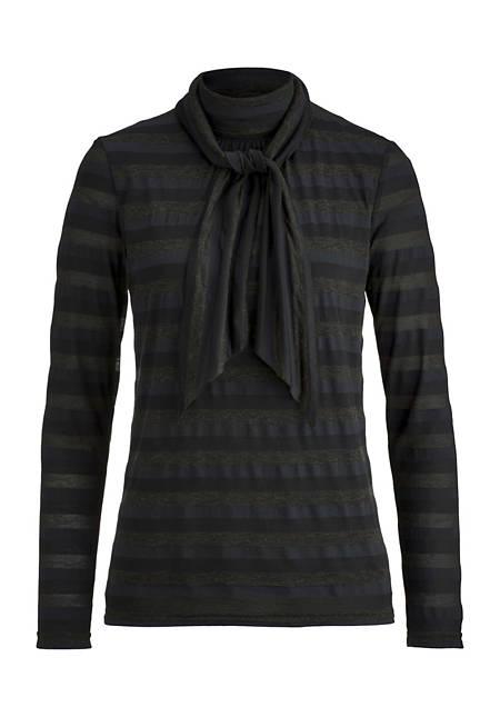 Shirt-Bluse aus Modal mit Bio-Baumwolle und Schurwolle mit Modal