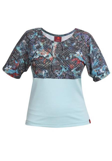 Shirt Farbrausch blau