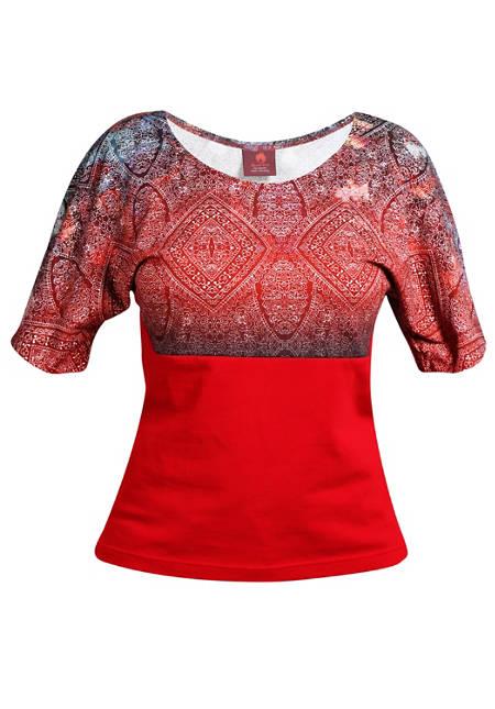 Shirt Farbrausch rot