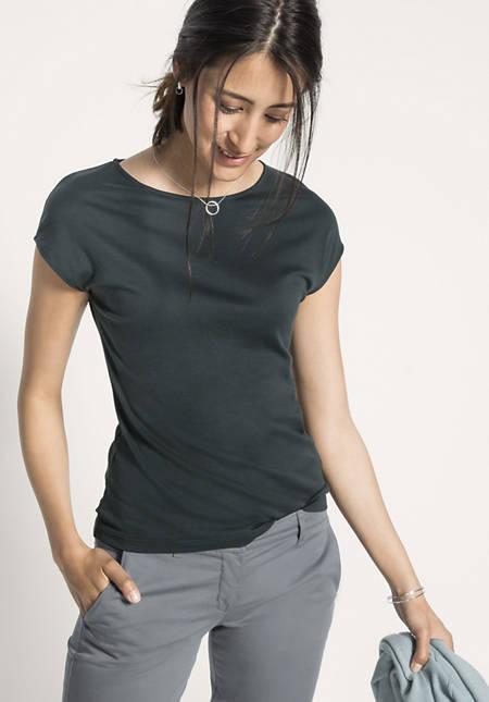 Shirt aus Baumwolle mit Seide