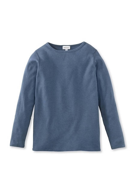 Shirt aus Bio-Baumwolle mit Schurwolle