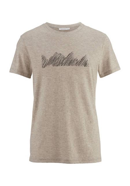 Shirt aus Bio-Baumwolle mit Yak