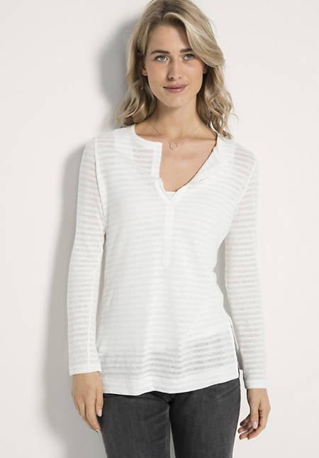 Shirt aus Leinen mit Bio-Baumwolle