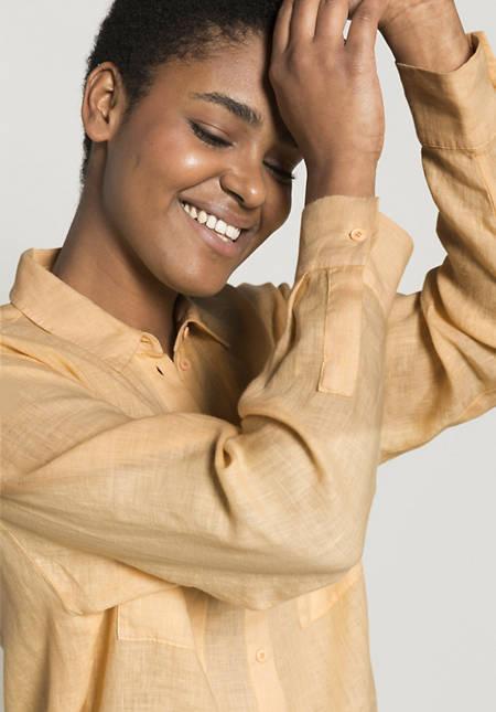 Shirt blouse made of pure linen