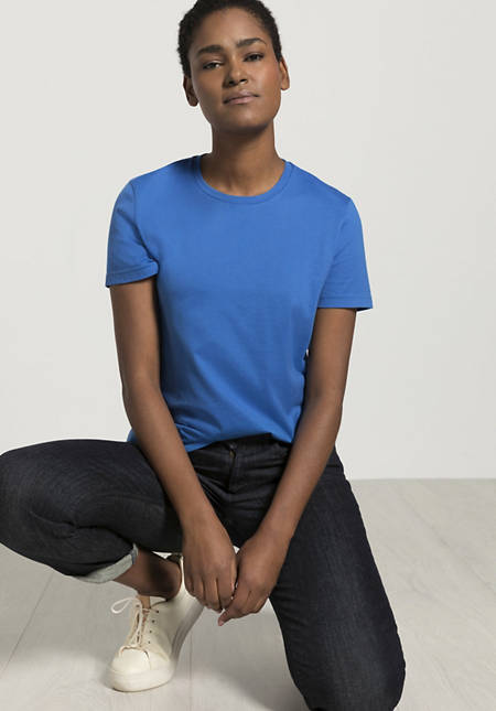 Short-sleeved shirt made from pure organic cotton