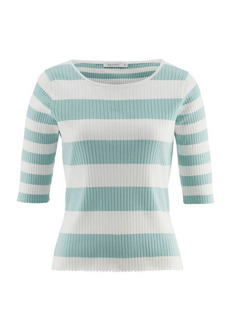 Short-sleeved sweater made from pure organic cotton