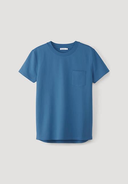 Short-sleeved sweatshirt made of organic cotton with kapok
