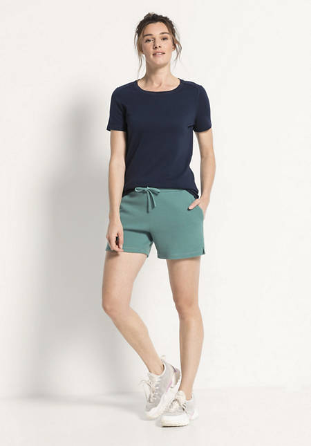 Shorts aus Bio-Baumwolle und Bio-Merinowolle