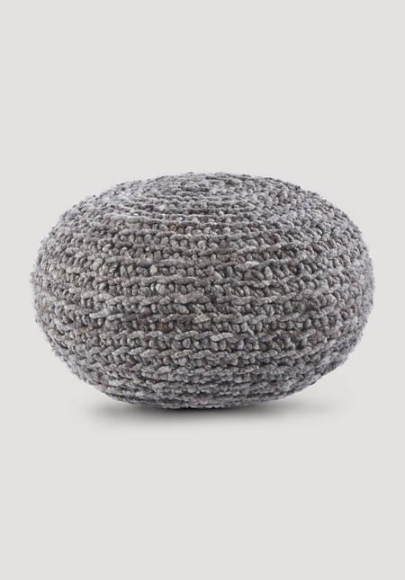 Sitzpouf aus reiner Schurwolle