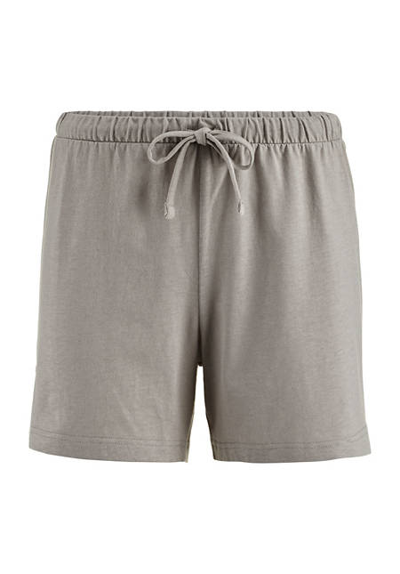 Sleep shorts made of organic cotton with linen