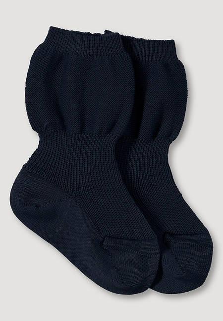 Socke aus reiner Bio-Merinowolle