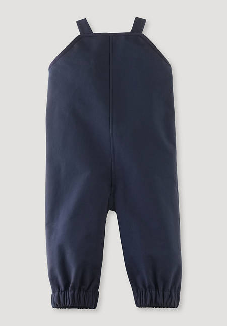 Softshell dungarees made of organic cotton