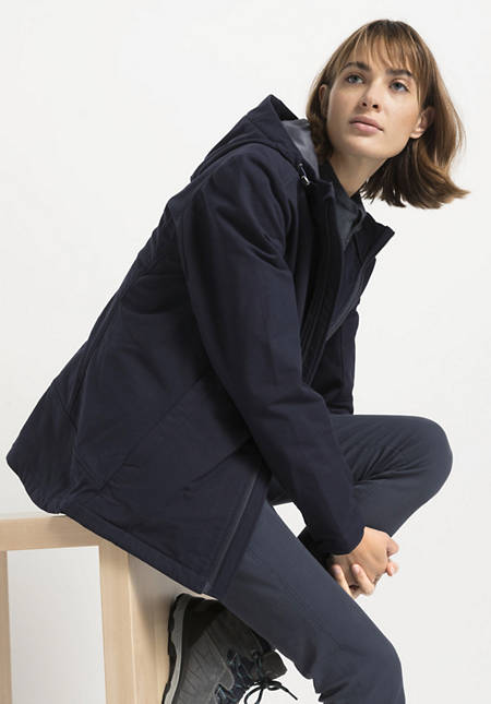 Softshell jacket made from organic cotton