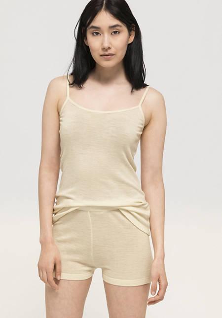 Spaghetti tank shirt made from pure organic merino wool