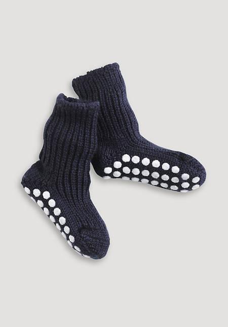 Stopper sock made of pure organic merino wool