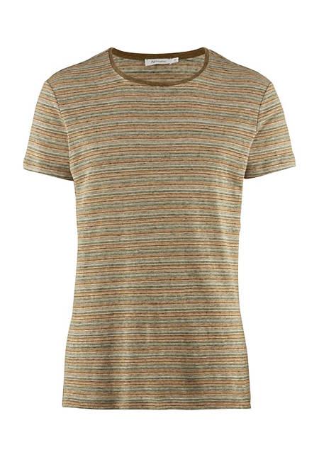 Streifen-Shirt aus reinem Leinen