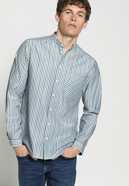 Streifenhemd Comfort Fit aus reiner Bio-Baumwolle