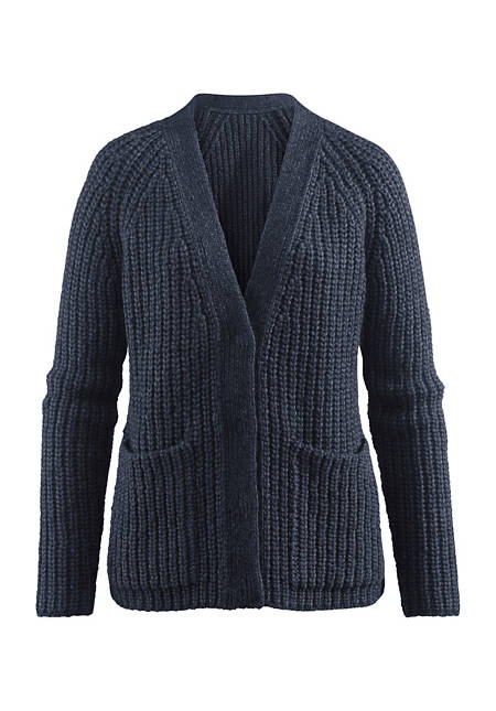 Strickjacke aus Alpaka mit Baumwolle