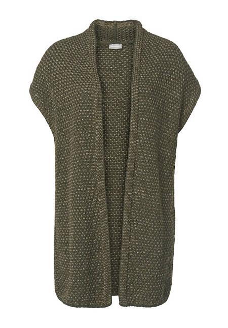 Strickjacke aus Bio-Baumwolle und Leinen