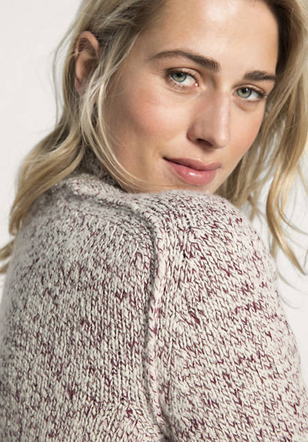 Strickjacke aus Schurwolle mit Bio-Baumwolle