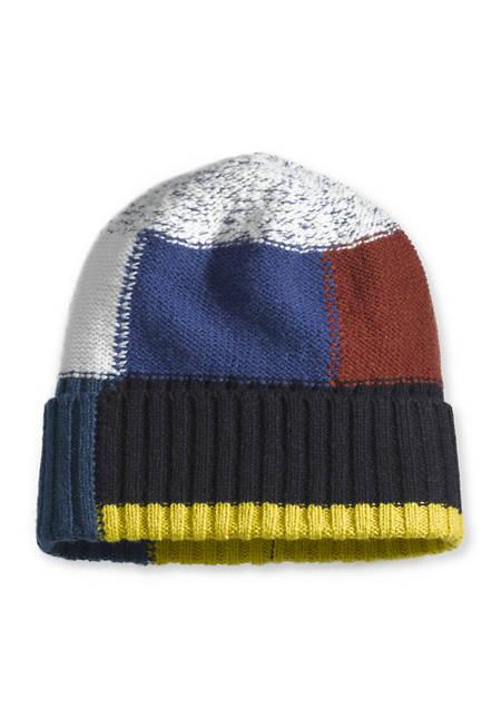 Strickmütze aus Schurwolle mit Baumwolle