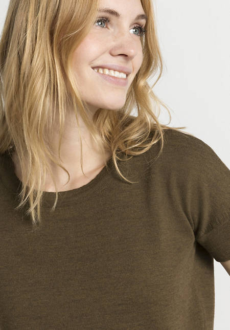 Strickshirt aus reiner Bio-Merinowolle