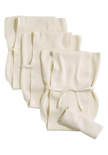Strickwindel im 3er-Pack aus reiner Bio-Baumwolle