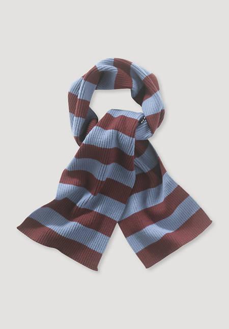 Stripe scarf Betterecycling made of pure merino wool
