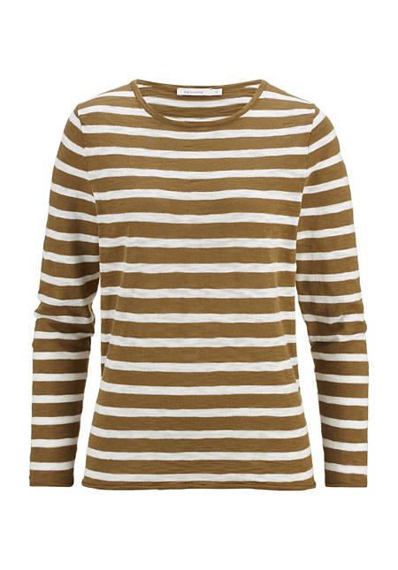 Stripe sweater made of pure organic cotton