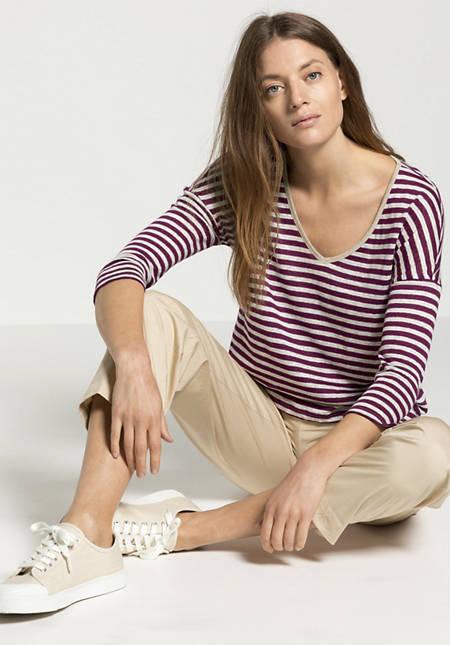 Striped shirt made of pure linen