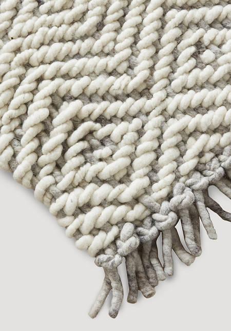 Struktur Teppich aus reiner Deichschaf-Wolle
