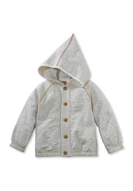 Sweat Jacke aus Bio-Baumwolle mit Hanf und Schurwolle